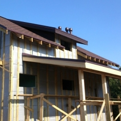 Каркасный дом 180 м2 со скрытой разводкой труб